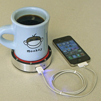 Epiphany One Puck Charges Your Phone Using Hot Coffee Or A Cold Beer