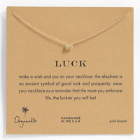 Dogeared 'Whispers - Luck' Pendant Necklace | Nordstrom