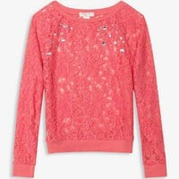 Rhinestoned Lace Top | FOREVER 21 - 2028395153