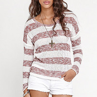Kirra Stripe Cut N Sew Dolman Top at PacSun.com