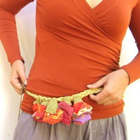 My Private Rose Garden Belt by StarBags on Etsy