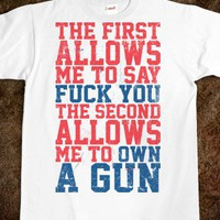 Fuck You Own A Gun - Merica Guns And Fun