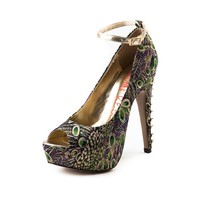 Womens London Rebel Grata Heel in Multi | Shi by Journeys