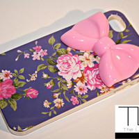 Lions Pride By Meri — Flower & Pink Bow iPhone 4/4s Case