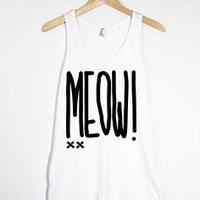 MEOW! Girls White Tank
