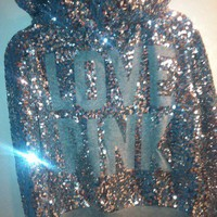 Victorias Secret Limited Edition Sequin Hoodie! Size Small!