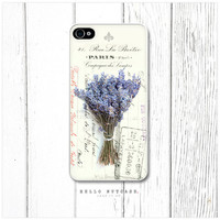 iPhone 4 and 4S case Lavender on French Ephemera