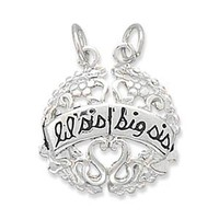 Lil Sis and Big Sis Break-Away Charm: Jewelry: Amazon.com