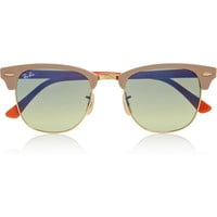 Ray-Ban|Clubmaster half-frame acetate sunglasses |NET-A-PORTER.COM