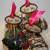 Alice in Wonderland Eat Me Cake Topper Picks  by anistadesigns
