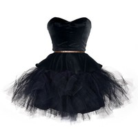 The Charming Black Swan mini prom dresses