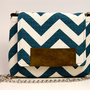 The MAROL Cross body in teal and cream chevron with by ao3designs