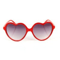Red Heart Shape Sunglasses