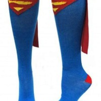 Amazon.com: Superman Superhero Blue Adult Knee High Cape Sock: Clothing