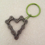 Heart Keychain 2 - Upcycled Bicycle Chain - Cycling Recycled Parts