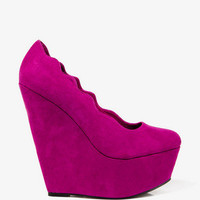 Scalloped Platform Wedges | FOREVER 21 - 2031639199