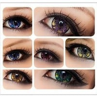 Amazon.com: Soft Lens Green Star Gazed 5 Tone Contact Lenses (Green): Beauty