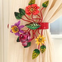 Urban Outfitters - Bright Botanical Curtain Tie-Back