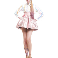 Shiny LIGHT PINK Metallic Tutu Princess Mini Skirt