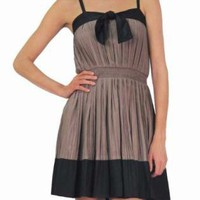 Brown Cocktail Dress - Anika Burke Black and Brown | UsTrendy