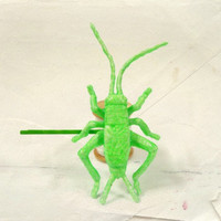 Insect Hair Accessories Neon Green Cricket Hair Pin by LiLaO