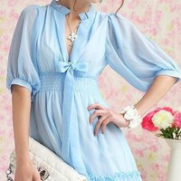 Cute Chiffon Empire Mini Above Knee Dress
