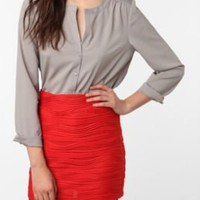 UrbanOutfitters.com &gt; Sparkle &amp; Fade Pleated Silky Blouse