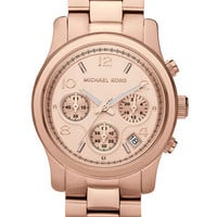 Michael Kors 'Runway' Rose Gold Watch, 37mm