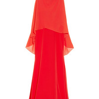 Vionnet|Layered silk and silk-chiffon gown|NET-A-PORTER.COM