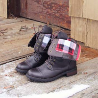 The Lodge Boots in Oak, Sweet Bohamian Boots & Shoes