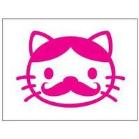 Amazon.com: Hello Kitty Mustache Sticker Decal. Pink: Everything Else