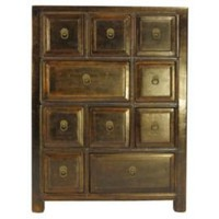 One Kings Lane - Eastern Influence - Walker 10-Drawer Chest, Gold