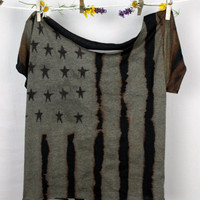 Bleached Flag Slashback Shirt by GreatsbyKate on Etsy