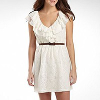 Olsenboye Juniors Lace Ruffle Belted Dress : dresses : juniors : jcpenney