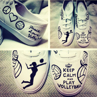 Keep Calm and Play Volleyball ON VANS Made to by BreakFreeDesigns