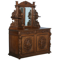 1STDIBS.COM - Scandinavian Antiques - Amazing Black Forest Carved Sideboard