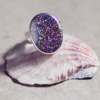 everyday fashion Jewelry  golden mystic druzy AGATE RING  by YUNILIsmiles
