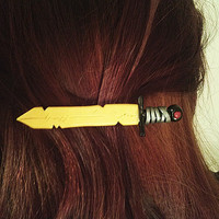 Adventure Time Finn's Golden Sword Hair Barrette/Clip