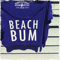 Bourne Better  Beach Bum Crop Top / American Blue