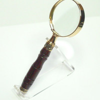 Magnifying Glass Cocobolo 24 carat gold