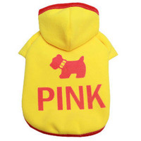 Hot New Pet Puppy Dog Polapolys Clothes Clothing Hooded Hoodie T-Shirt Size M