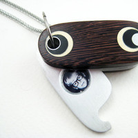 Unique Locket Wood Ooak handmade unisex by RamshackleStudio