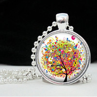 Resin Jewelry Pendant Party Tree Art Pendant Charm by 4Tdesigns