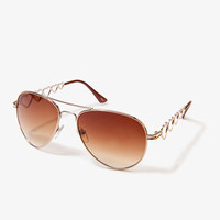 F8280 Cutout Heart Aviators | FOREVER 21 - 1021988280