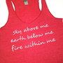Fire within me // Workout tank // Abundant Heart Apparel