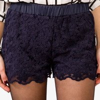 Knotted Lace Shorts