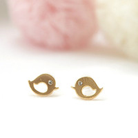Love birds earrings by laonato on Etsy