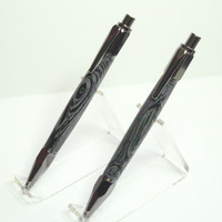 Vertex Gun Metal Authentic Black Lava Click Pen & Pencil Set