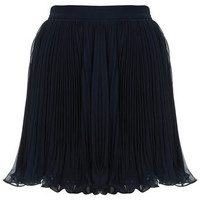 Navy Plisse Mini Skirt - Skirts  - Apparel