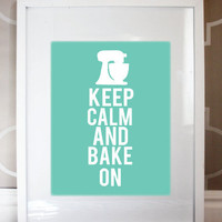 8x10 Keep Calm And Bake On Print | Luulla